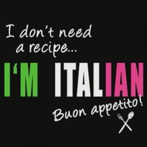 Italians don't need recipes