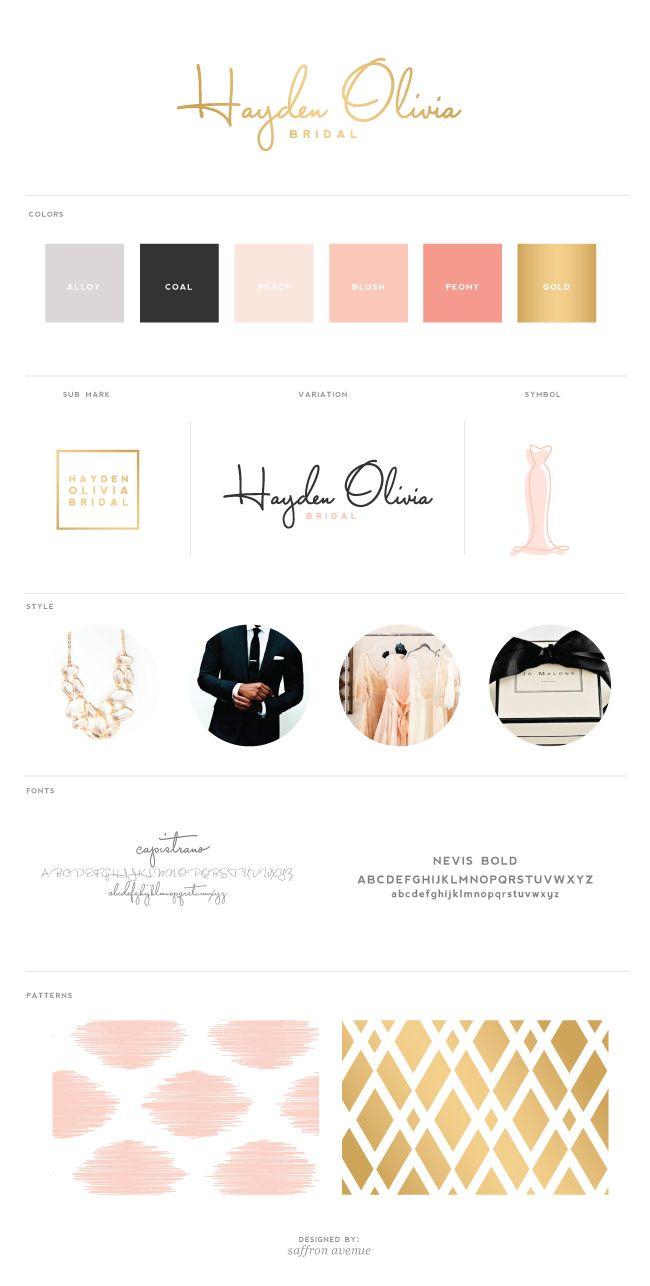 Logo + Brand Design :: Hayden Olivia Bridal - Saffron Avenue | Graphic Design + Brand Styling