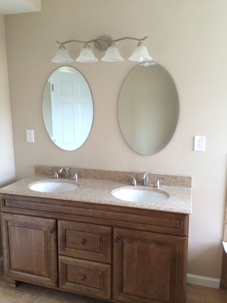 Double Sink 60 Vanity With Granite Top His Her Mirrors Bathrooms Tiling In Connecticut