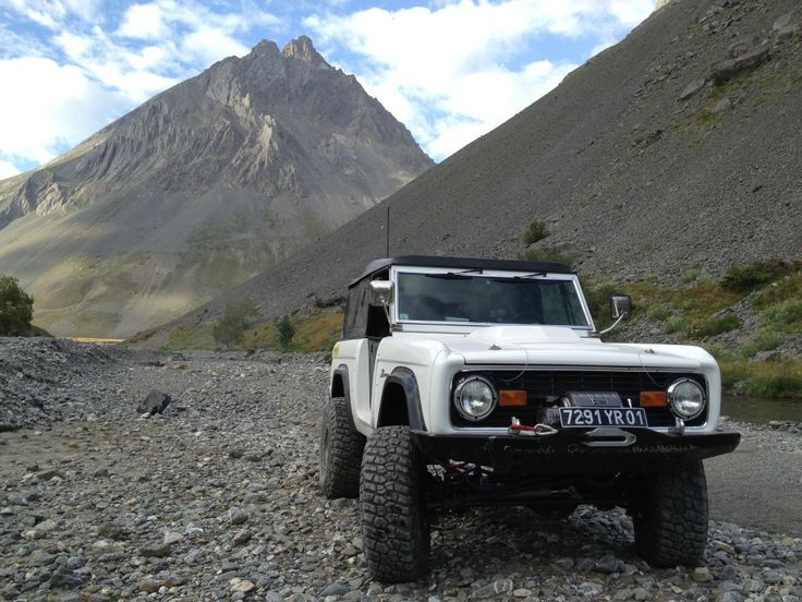 White Bronco in the mountains......anyone need to escape to another world with me?