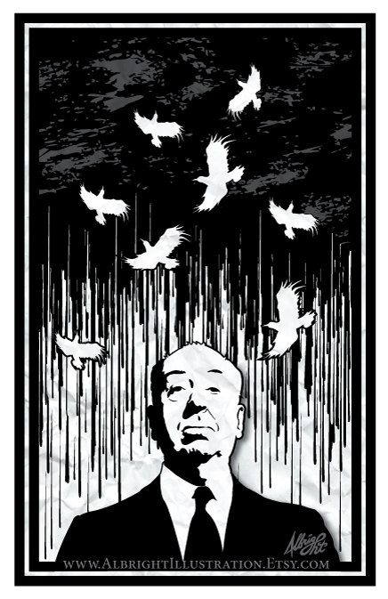 Hey, I found this really awesome Etsy listing at https://www.etsy.com/listing/97533034/alfred-hitchcocks-birds-11x17-poster
