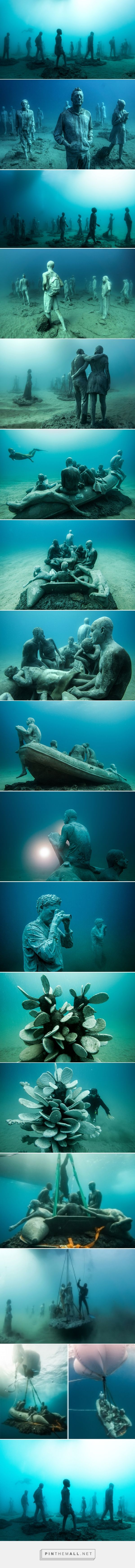 jason decaires taylor submerges underwater museum off the coast of lanzarote, spain - created via https://pinthemall.net
