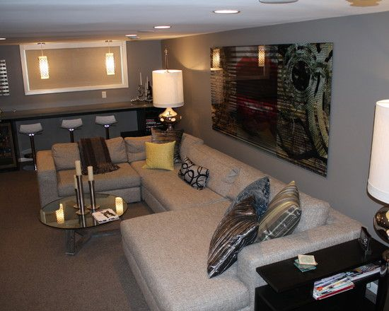 Modern basement cool basement ideas design pictures remodel decor and ideas page 8 dream - Cool basement bar ideas ...