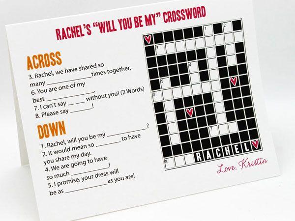43 best Bridesmaid Invitations images on Pinterest Bridesmaid - best of blueprint detail crossword clue