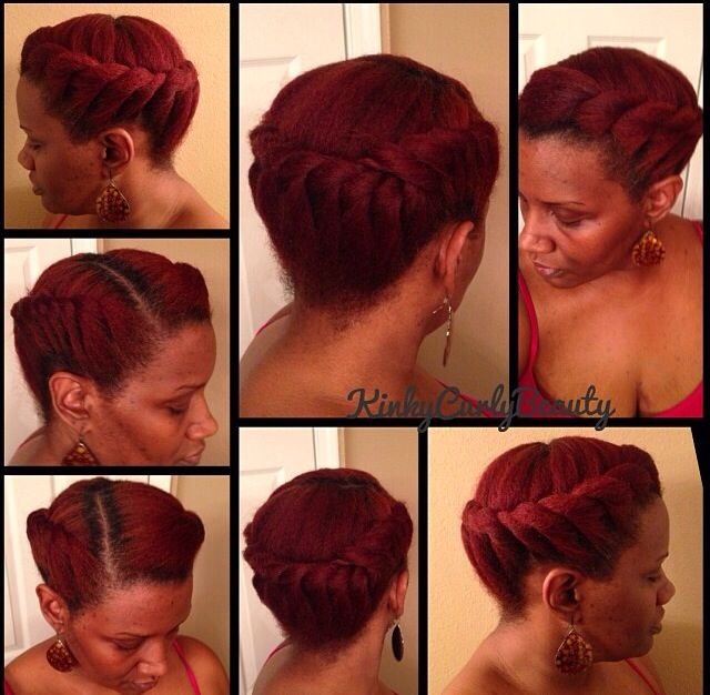 NATURAL HAIR UPDO #KINKYCURLYBEAUTY