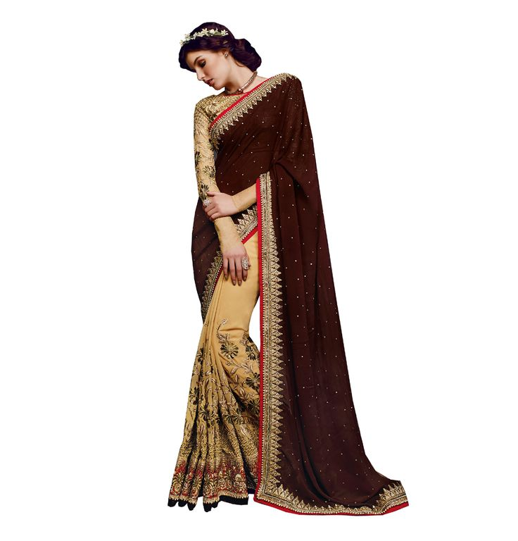 Buy Now Brown Designer Georgette Bridal Saree With Heavy Work Blouse only at Lalgulal.com  Price :- 8,041/- inr. To Order :- http://bit.ly/24QmmFD COD & Free Shipping Available only in India #sarees #weddingsaree #saris #weddingwear #bridalwear #halfandhalf #allthingsbridal #bridalsuits #ethnicfashion #celebrity #shopping #fashion #bollywood #india #indiafashion #bollywooddesigns #onlineshopping #designersaree #partywear #collection #designechoice #wedding #designer #womenswear