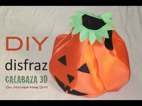 Cómo hacer un disfraz Halloween de calabaza para niños (patrón gratis) | Manualidades