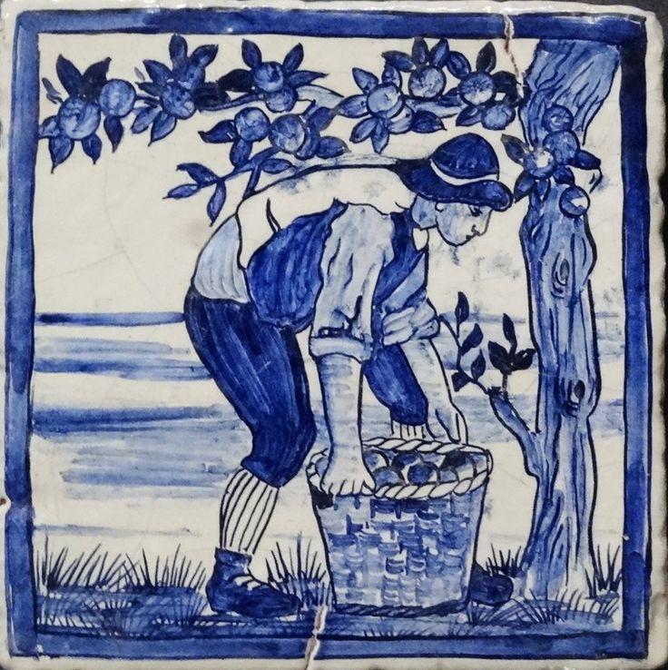 Old French ceramic tile