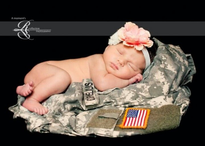 Military baby photo ~adorable