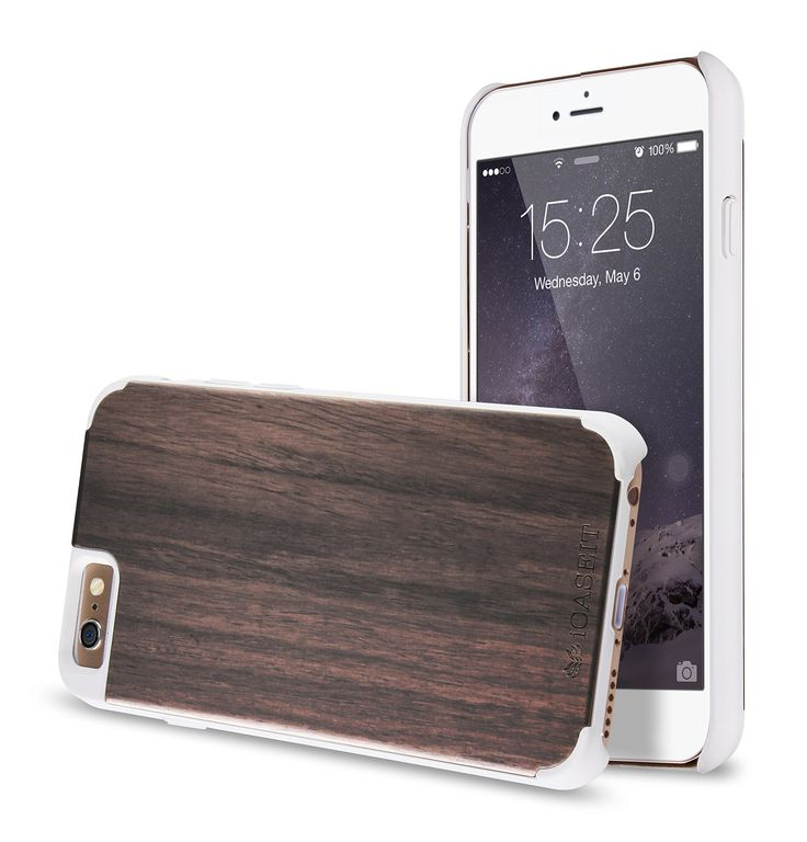 Amazon.com: iPhone 6 Case, Walnut / White - iCASEIT [Non-Slip] [Exact-Fit] Unique iPhone 6 (4.7) Case Slim **NEW** [Fit Series] [Thin Fit] [Smooth White] Premium SF Coated Non Slip Surface with Excellent Grip Matte Hard Case - iCASEIT Wood iPhone Case - Genuinely Natural, Unique & Premium quality for iPhone 6 (4.7 Display) - Walnut / White: Cell Phones & Accessories