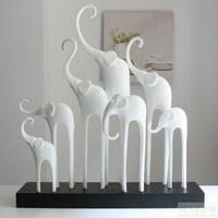 papier mache  elephant family