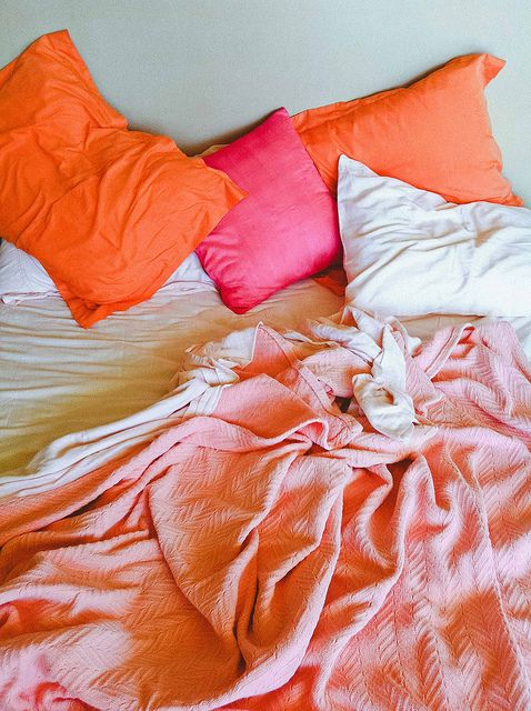 Bright colors for beds
