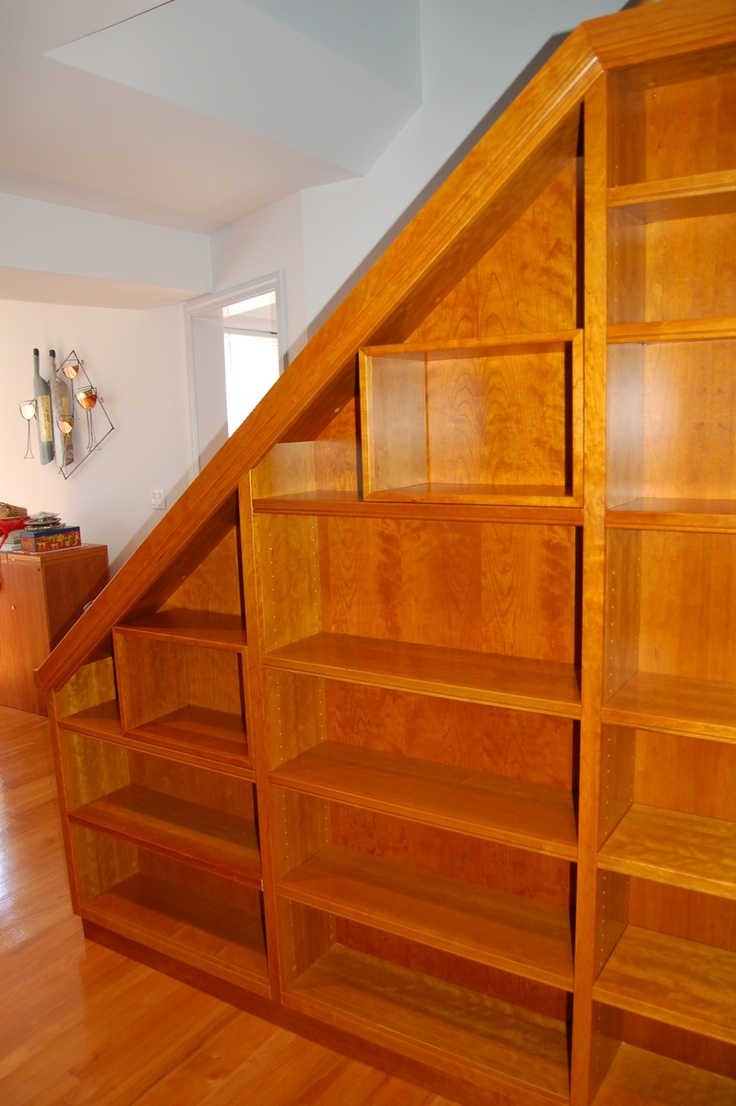 Bookcase On Staircase Wall