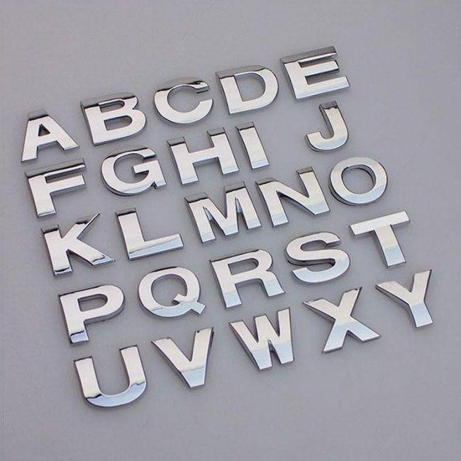 Металлические буквы наклейки для автомобиля #НАКЛЕЙКА #БУКВЫ #ЛОГОТИП #АВТОМОБИЛЬ
