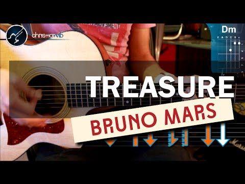 """Cómo Tocar """"Treasure"""" de Bruno Mars en guitarra acústica (HD) Tutorial - Christianvib - YouTube"""