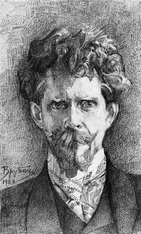 Portrait of Doctor Fiodor Usoltsev, 1904  Mikhail Vrubel