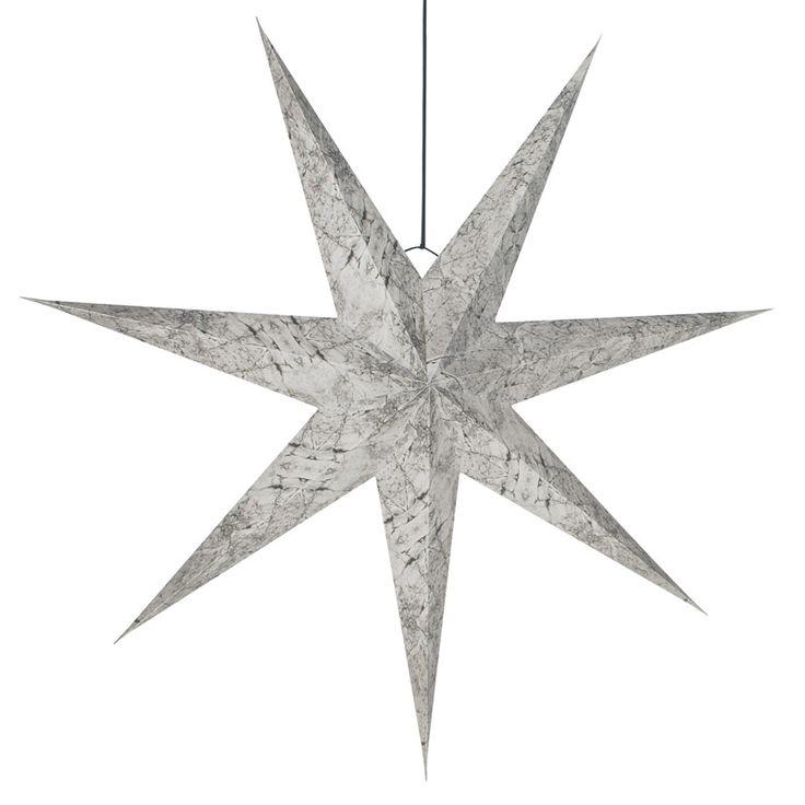 Christmas paper star marble gray. www.aspegren.dk
