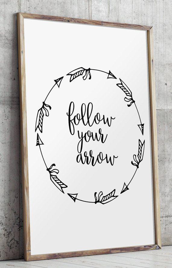 Follow Your Arrow Print Arrow Wall Art by TwoBrushesDesigns #arrowart