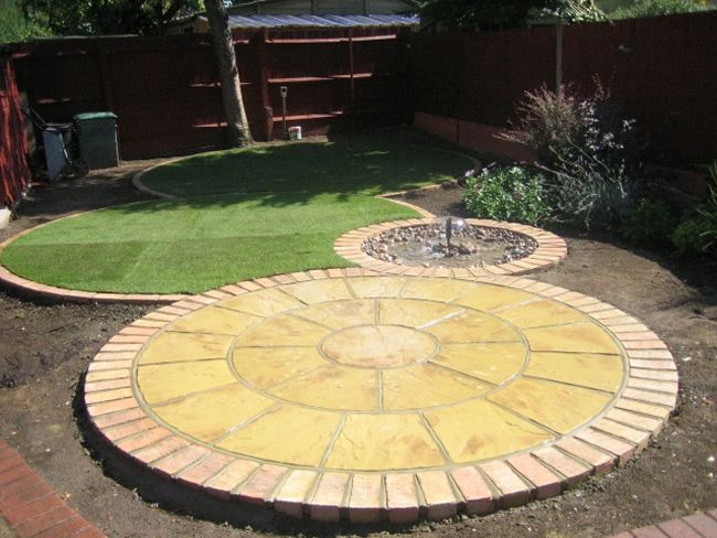 circular paver patio designs - Google Search