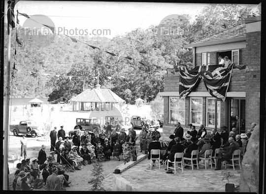 Official opening of the Road House Bobbin Head, 1937