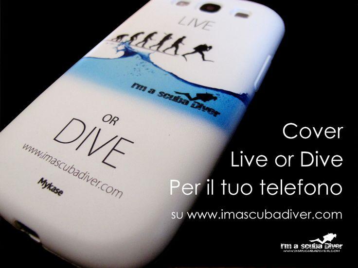 """Scopri le cover della linea """"Live or Dive"""" di i'm a scuba diver! la subacquea per passione!  http://www.imascubadiver.com/it/320-shop.html"""