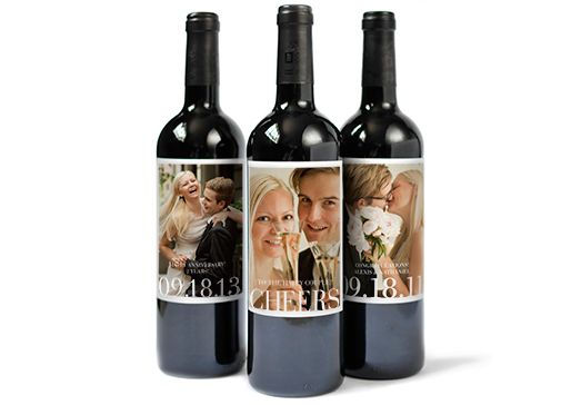 Photo Wine Label with 9 Unique Photos