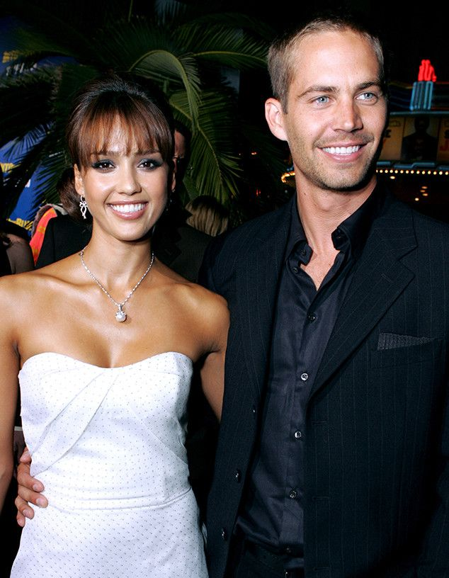 Premiere Pals from Paul Walker: A Life in Pictures  Paul Walker and Jessica Alba attend the Into the Blue premiere in Westwood.