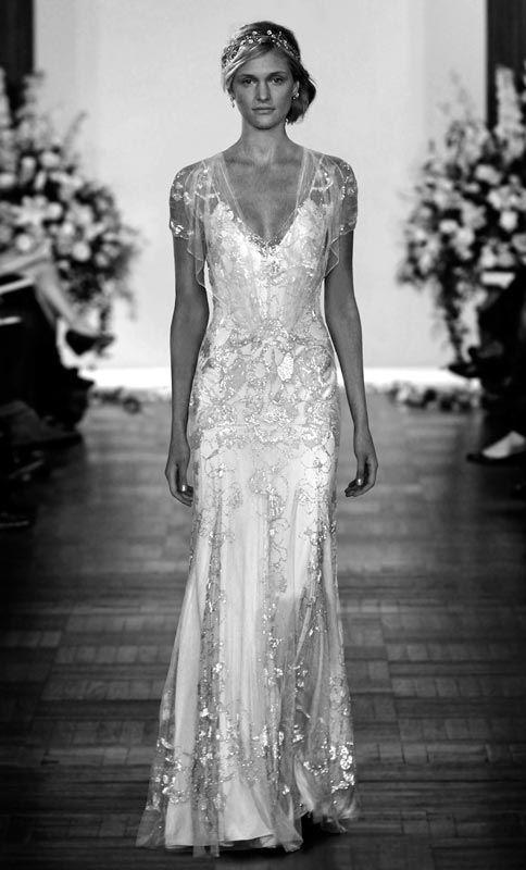 1920 Style weddimg Dresses | The Twenties Bride | Style of 1920s Wedding Dresses Art Deco