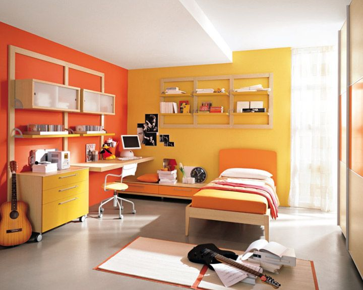 Kids Bedroom Yellow room decor – colors that add life to your room | orange bedrooms