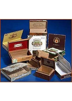 empty cigar boxes -always great finds to use for everything!