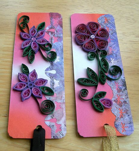 quilled paper bookmarks
