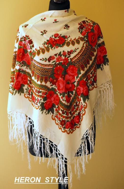Chusta ludowa góralska. Chcę tą. Polish highlander scarf.