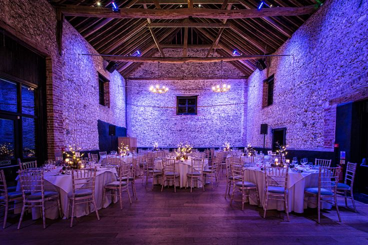 The Granary Barn set up for Christmas Party #winterwonderland #woodland #christmasparty #petedennessphotography