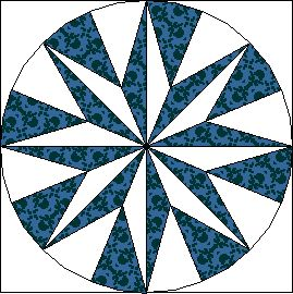 Mariner's Compass - Bee Happy Quilting