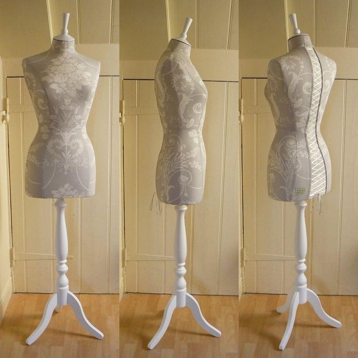 Laura Ashley Fabric Corset laced Mannequin Dressform Display - Keri.  via Etsy.