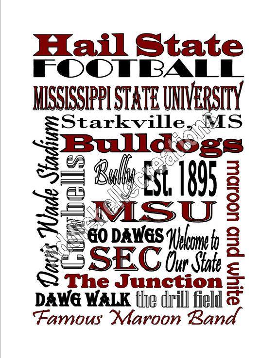 DIY Printable Mississippi State University by AddieBelleCreations, $6.00