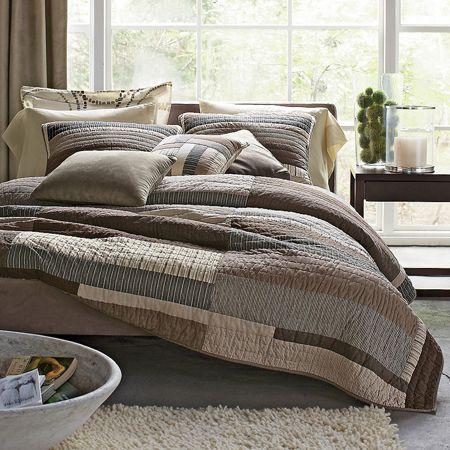 Essex Contemporary Quilt Essex Neutral Bedding Collection