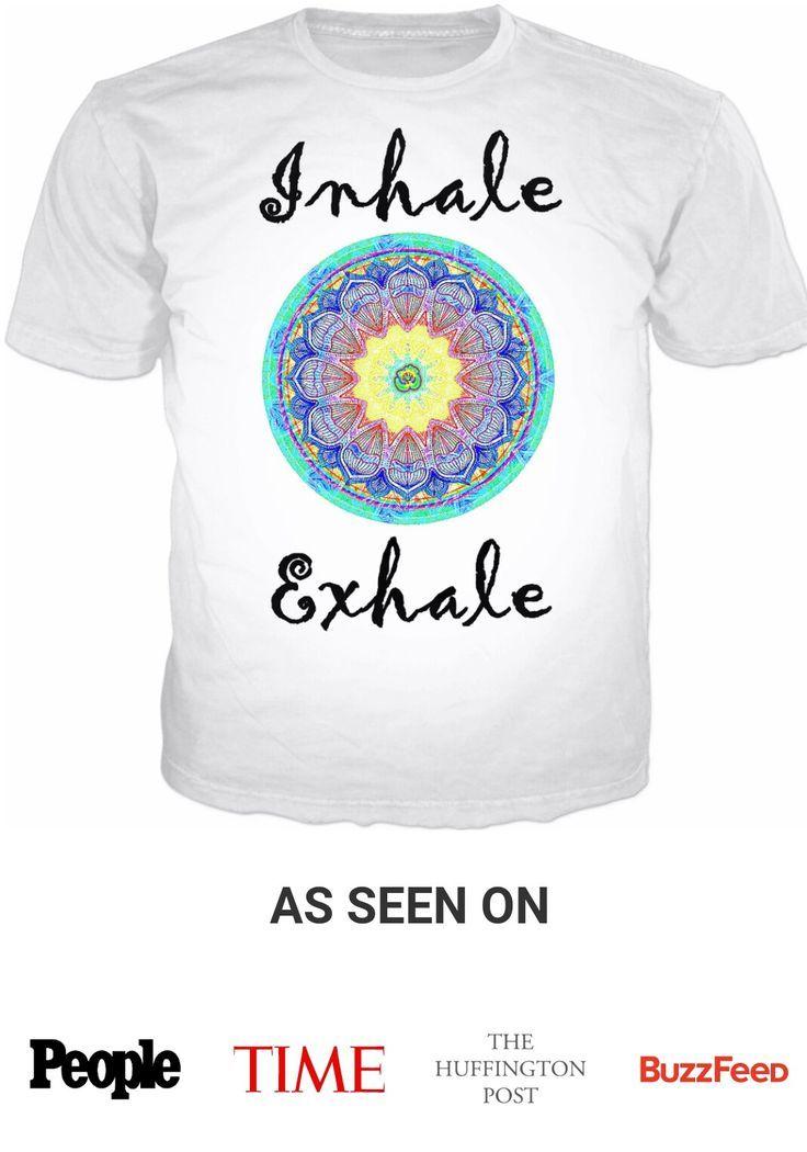 Inhale Exhale Mandala Tee  #tee #breathe #mandala #hippie #boho #inhale #exhale #quotes #relaxation