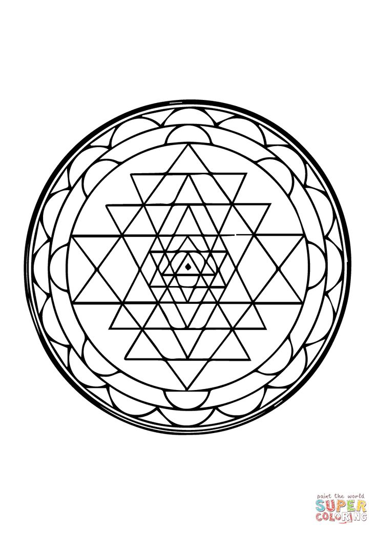 Sri Yantra Coloring Pages