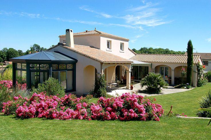 #veranda #conceptalu gamme #ARMONIA - #intégration # maison #jardin