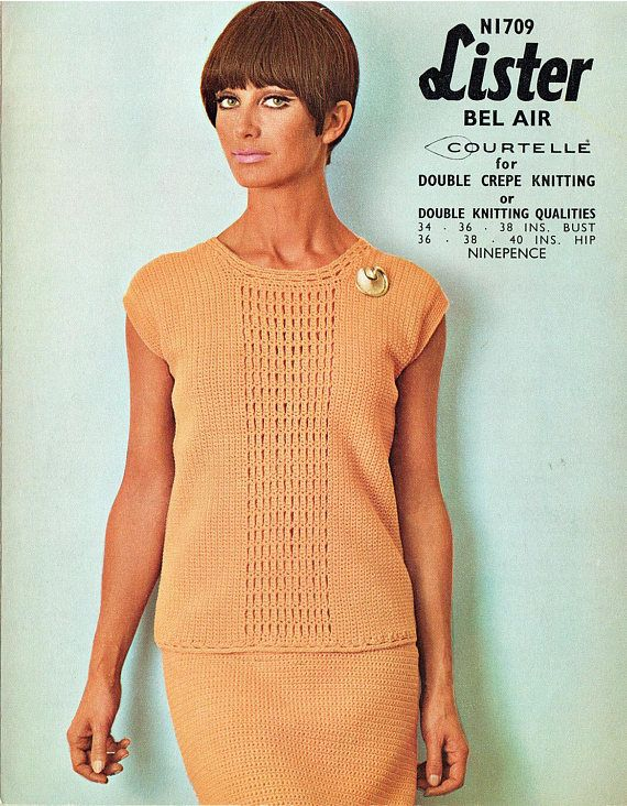 PDF Vintage 1970s Womens Ladies Dress Suit Crochet Pattern