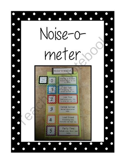 Noise-o-meter: Voice Levels in the Classroom from The Teaching Chick on TeachersNotebook.com -  (8 pages)  - This is a noise-o-meter. It is used to measure noise levels in the classroomIncluded are six voice levels (silence is golden, spy talk, low flow, formal normal, loud crowd, and party time).