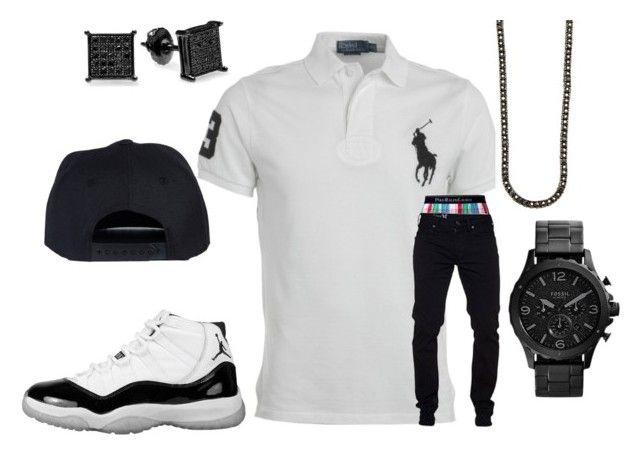 """""""Untitled #16"""" by crenshaw-m4fia ❤ liked on Polyvore featuring Ralph Lauren, Polo Ralph Lauren and FOSSIL"""