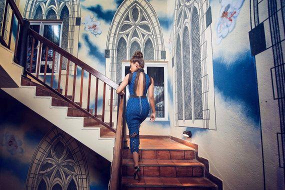 NuKi Blu Ivy Dress by ShopNuKi on Etsy
