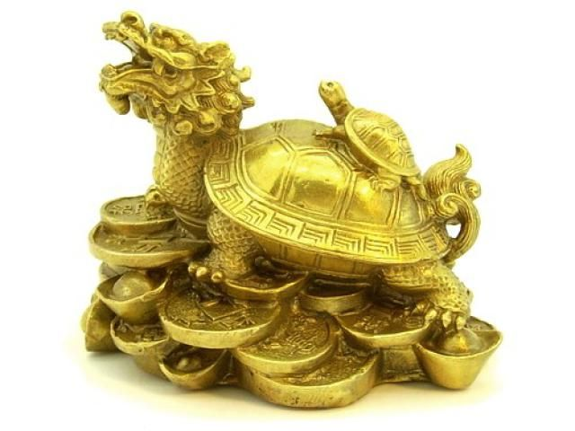 Dragon Turtles Use in Feng Shui: The dragon turtle is a mythical creature and a classical feng shui cure for wealth, protection and good luck. It is also used to neutralize negative energy of annual feng shui stars.