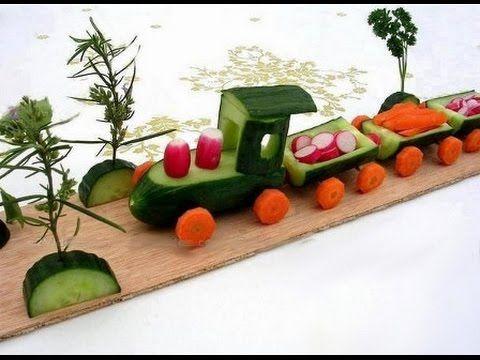Детские Поделки из фруктов и овощей