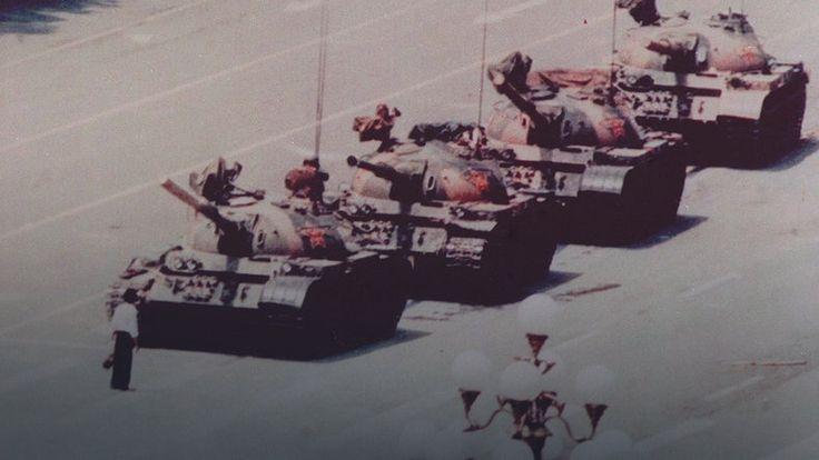 Człowiek przeciw czołgom. Zdjęcie z Tiananmen #historia