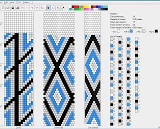 bizuteria-blond: Wzory sznurów szydełkowo-koralikowych   14 ks