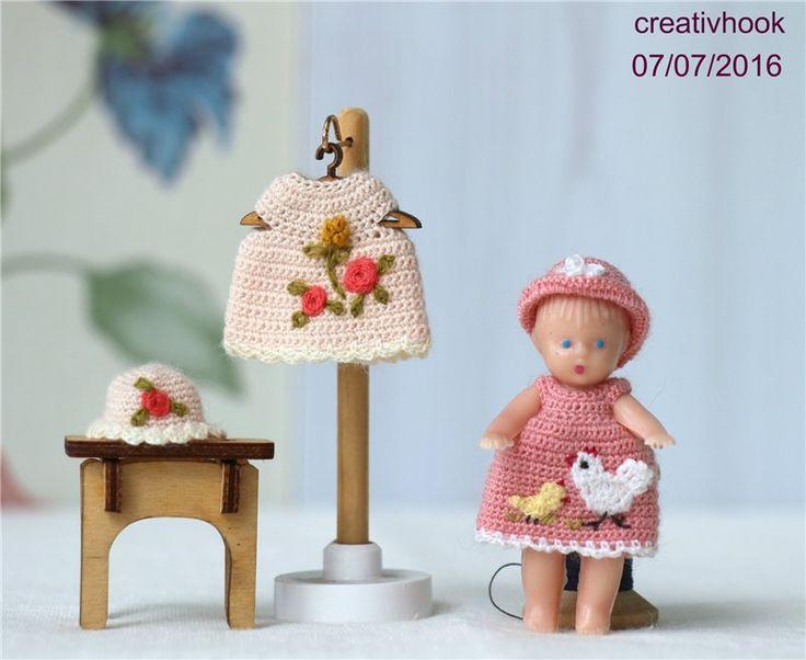 Миниатюрные платья для кукол 6-7 см / Одежда для кукол / Шопик. Продать купить куклу / Бэйбики. Куклы фото. Одежда для кукол