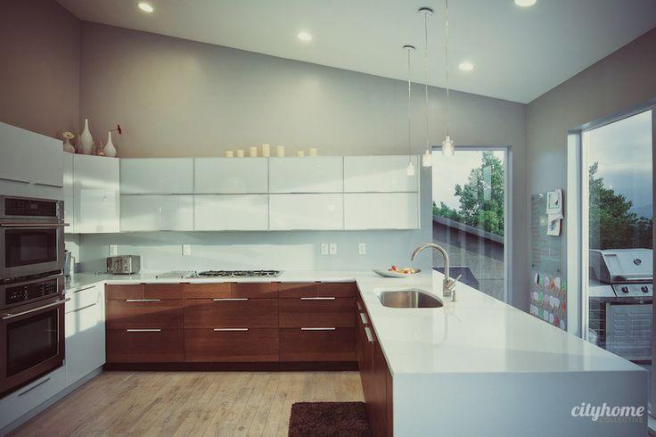 Salt Lake Modern Kitchen #white #cabinet #hardwood
